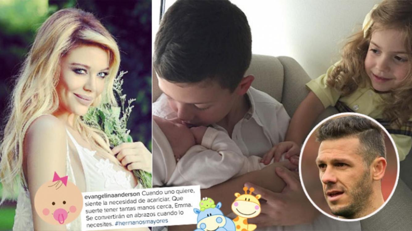 La primera foto de Emma, la hija de Evangelina Anderson y Martín Demichelis (Foto: Instagram)