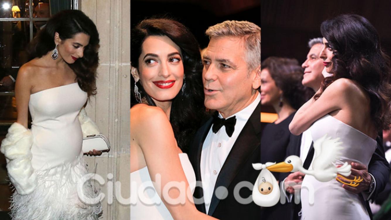 La primera foto de George Clooney y su mujer, ¡embarazada de gemelos! Foto: Grosby Group.