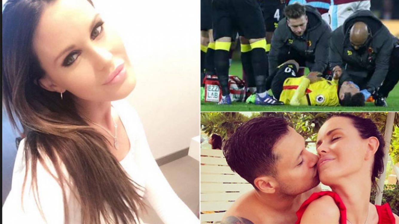 El tweet de Natalie Weber para Mauro Zárate tras su dura lesión. (Fotos: Twitter y Web)