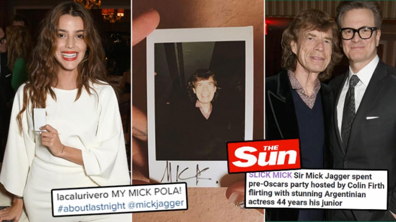 Calu Rivero asistió a una mega fiesta de celebrities y en Inglaterra la relacionaron con… ¡Mick Jagger!