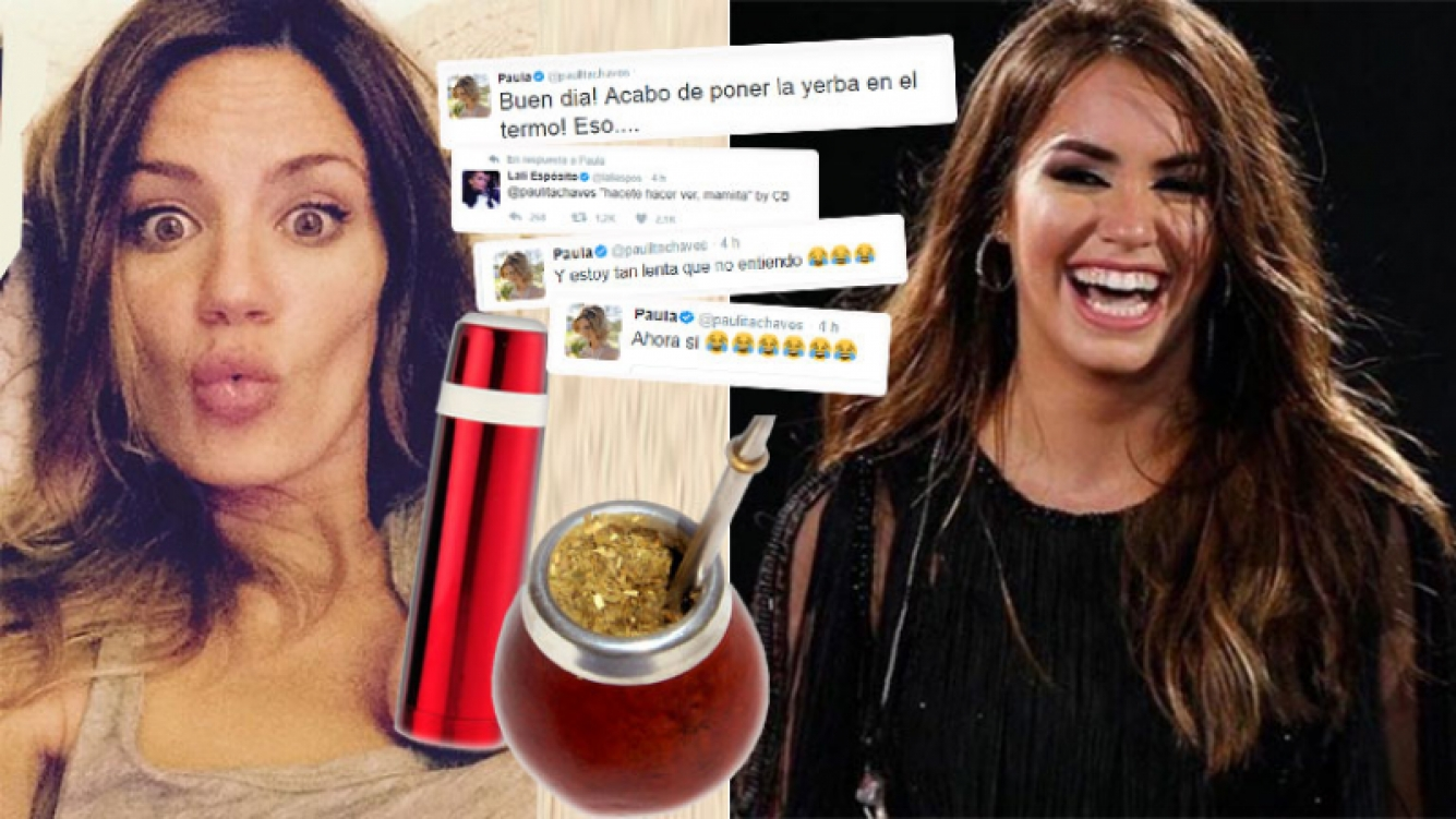 Paula Chaves, blooper doméstico... y chiste de Lali Espósito (Foto: web e Instagram)
