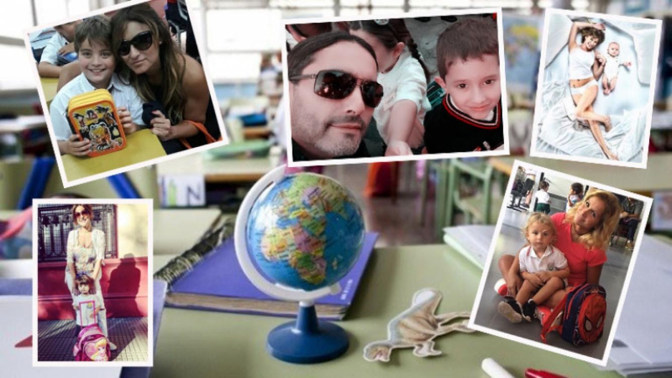 El primer día de clases de los hijos de los famosos. (Fotos: Instagram, Twitter y Web)