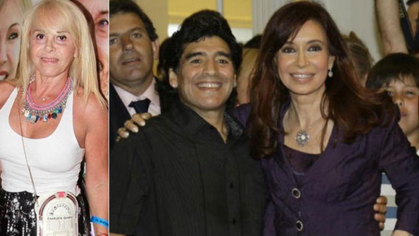 Diego Maradona compartió el cumpleaños de su nieto, Benjamín, con Claudia Villafañe. Y antes de irse a Dubai, charló con Cristina Fernández.