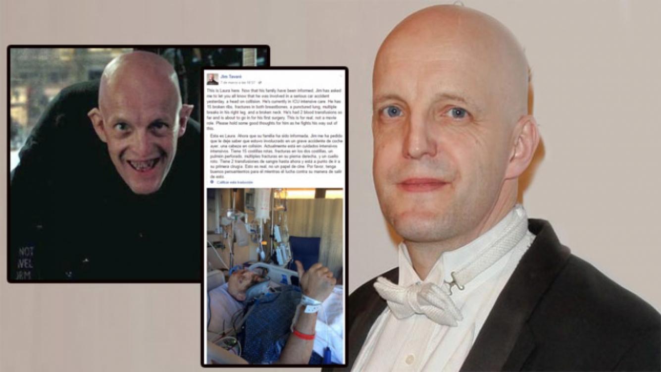 Jim Tavaré, en grave estado tras un accidente (Foto: Facebook y Web)