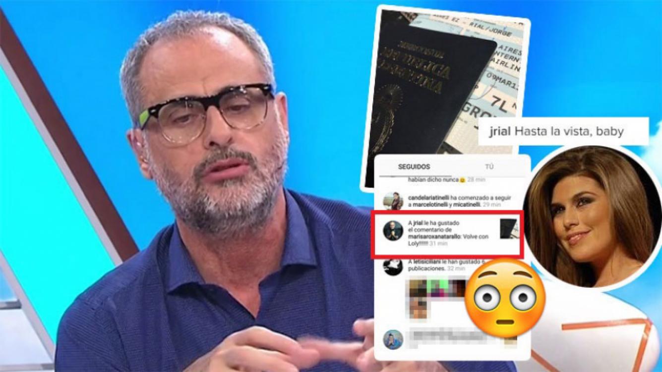 """Jorge Rial y un pícaro """"me gusta"""" a un comentario sobre Mariana Antoniale"""