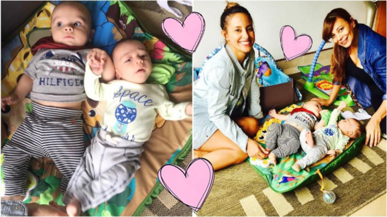 Ximena Capristo y Lourdes Sánchez pusieron baboso a Instagram con la foto de sus bebés juntos. Foto: Instagram