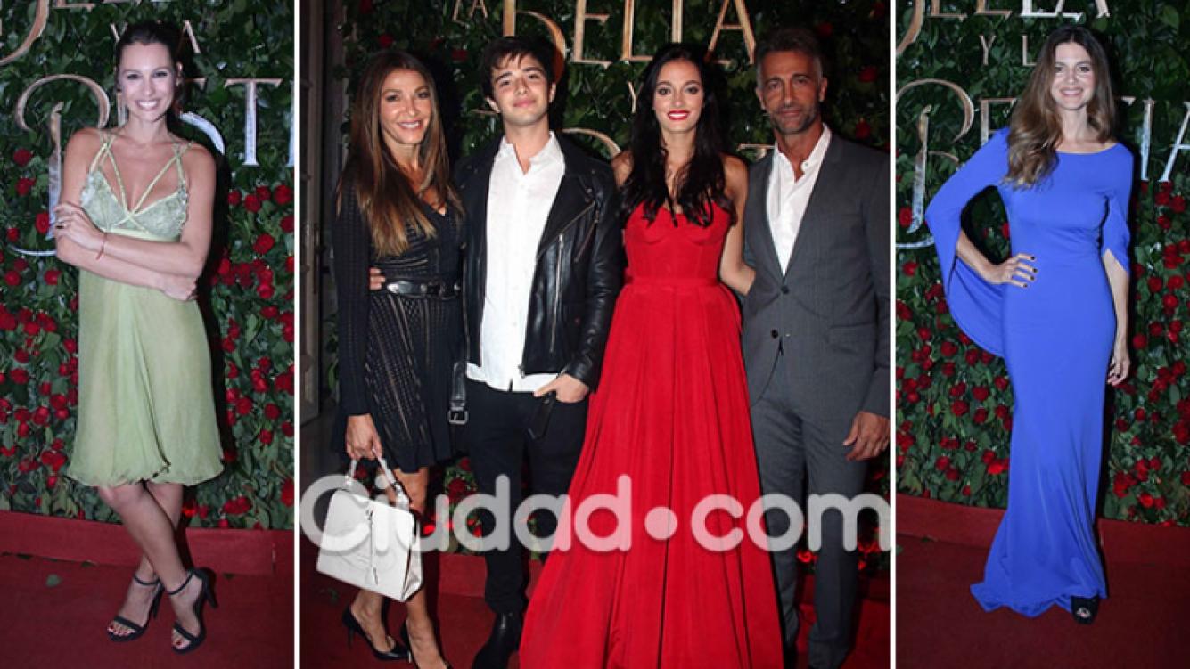 Los famosos asistieron al debut de La Bella y la Bestia. (Foto: Movilpress - Ciudad.com)