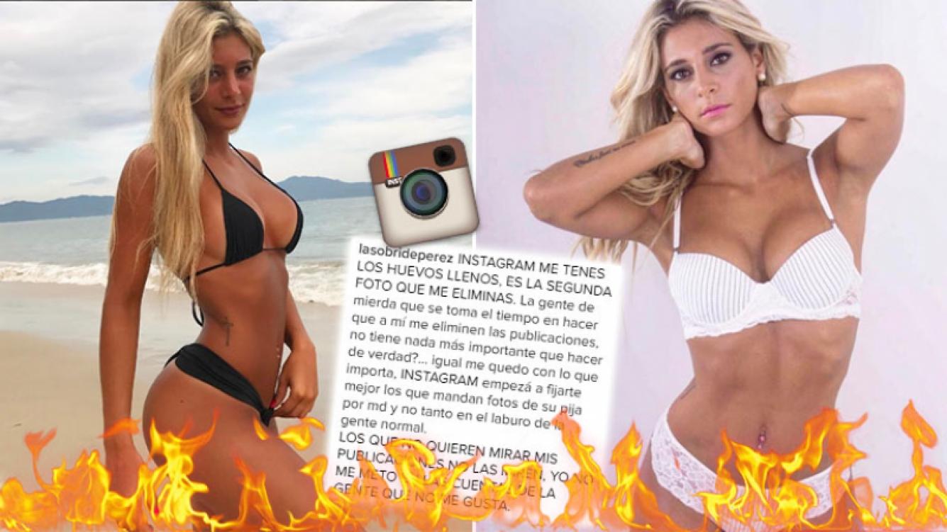 Sol Pérez explotó contra Instagram por censurarle una foto hot.