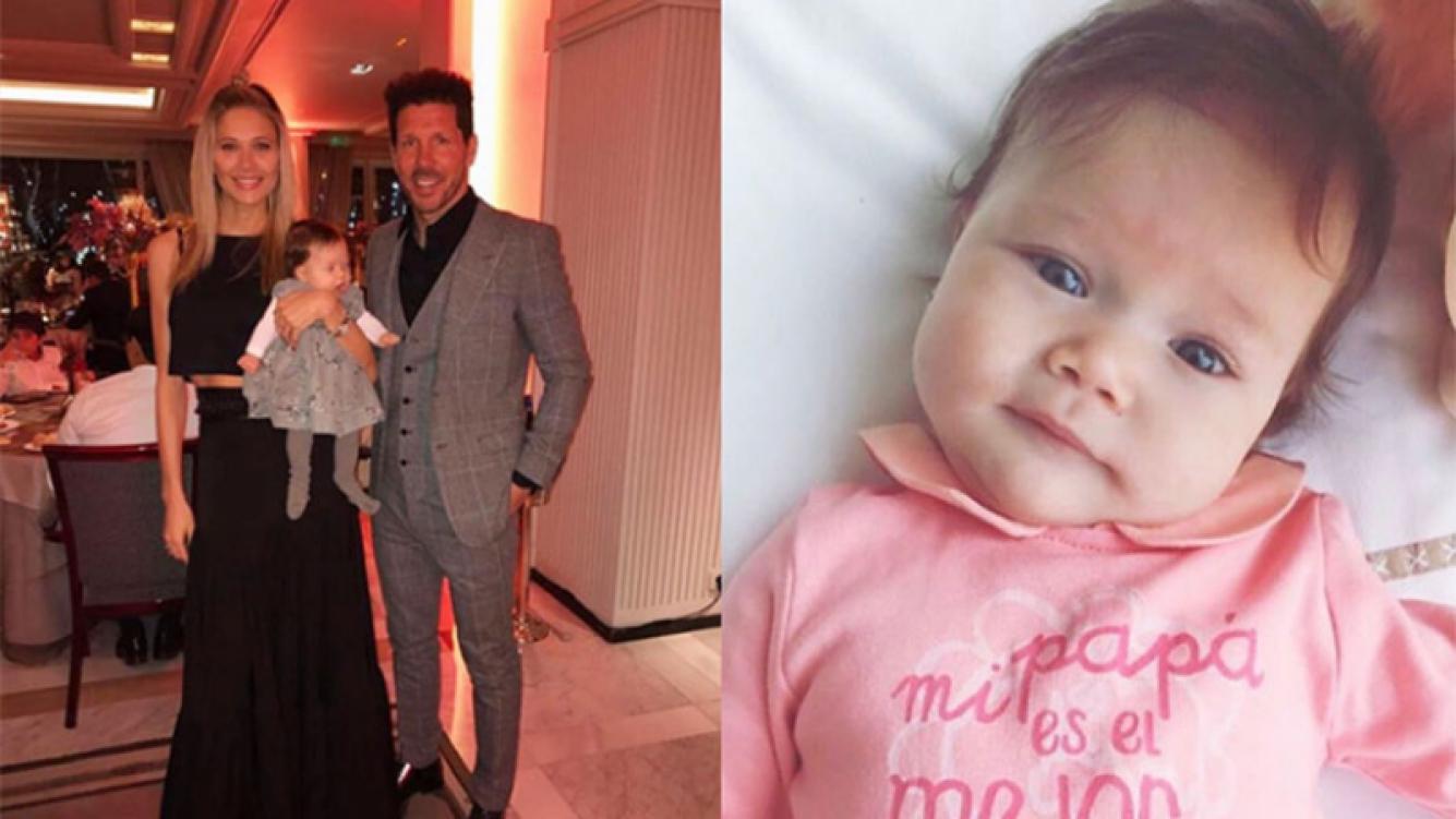 Francesca, la hija de Diego Simeone y Carla Pereyra, cumple 6 meses. Foto: Instagram.