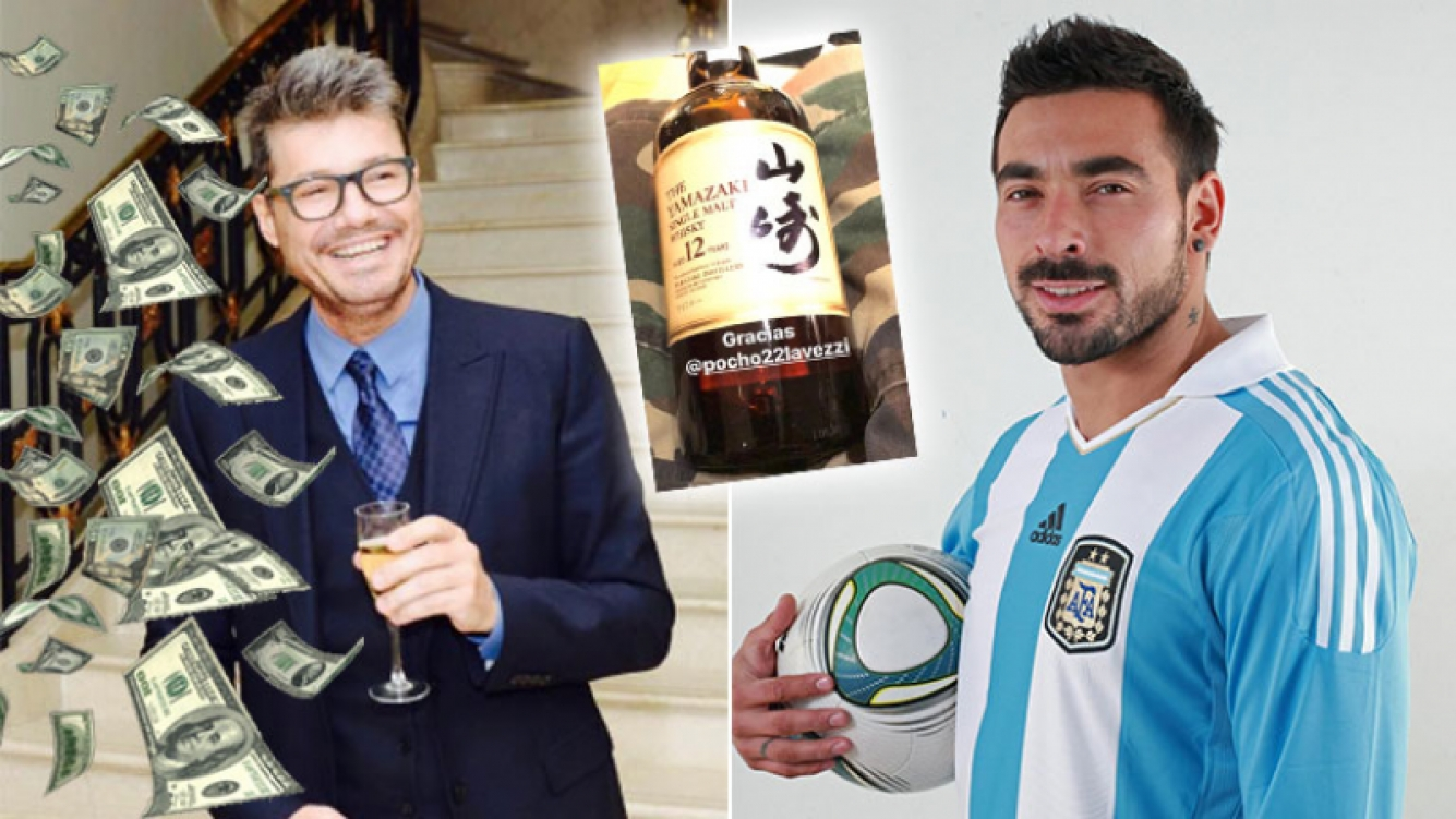 Marcelo Tinelli y el costosísimo whisky japonés que le regaló un crack de la Selección: ¡mirá cuánto cuesta la botella!