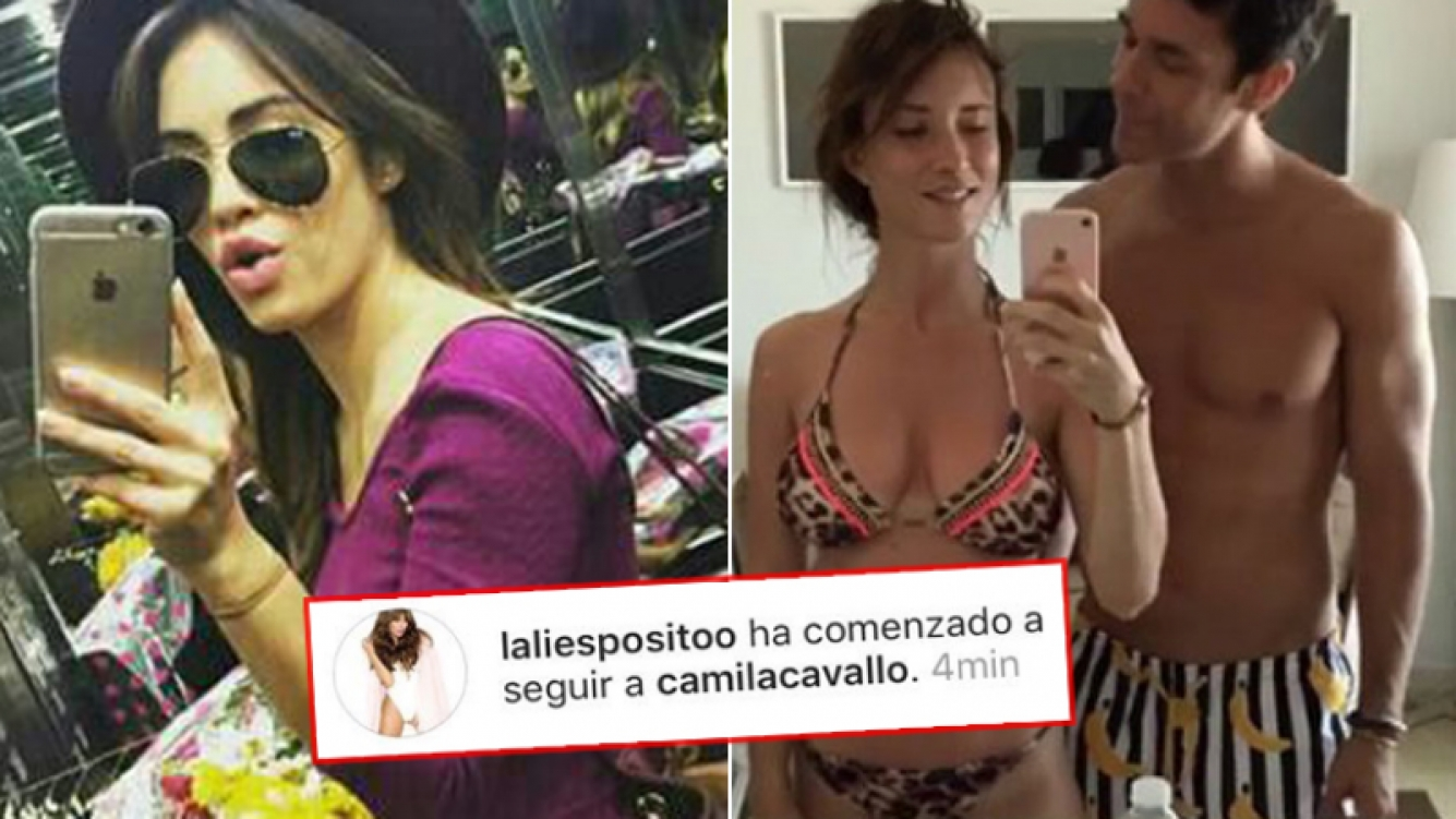 La prueba de que Lali Espósito siguió por unos minutos a Camila Cavallo, novia de su ex Mariano Martínez. (Fotos: Instagram)