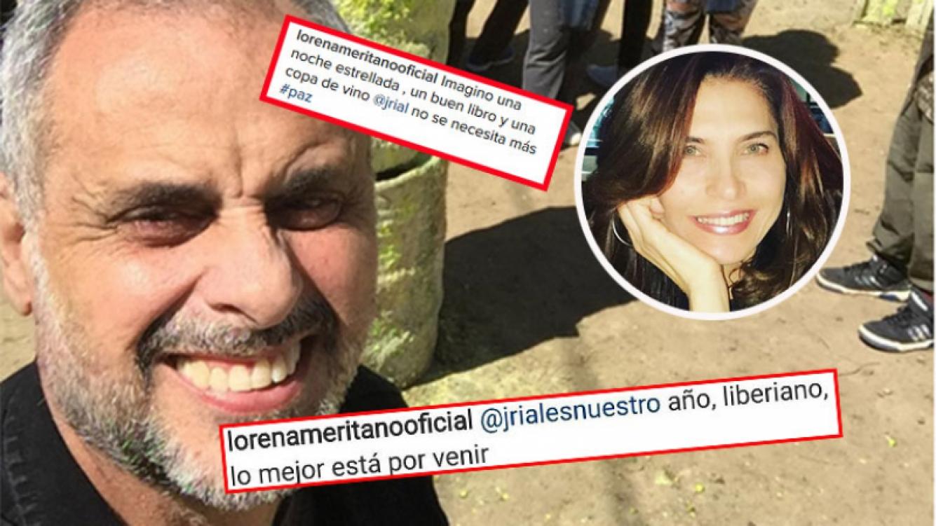 Lorena Meritano y sus mensajes para Jorge Rial en Instagram.