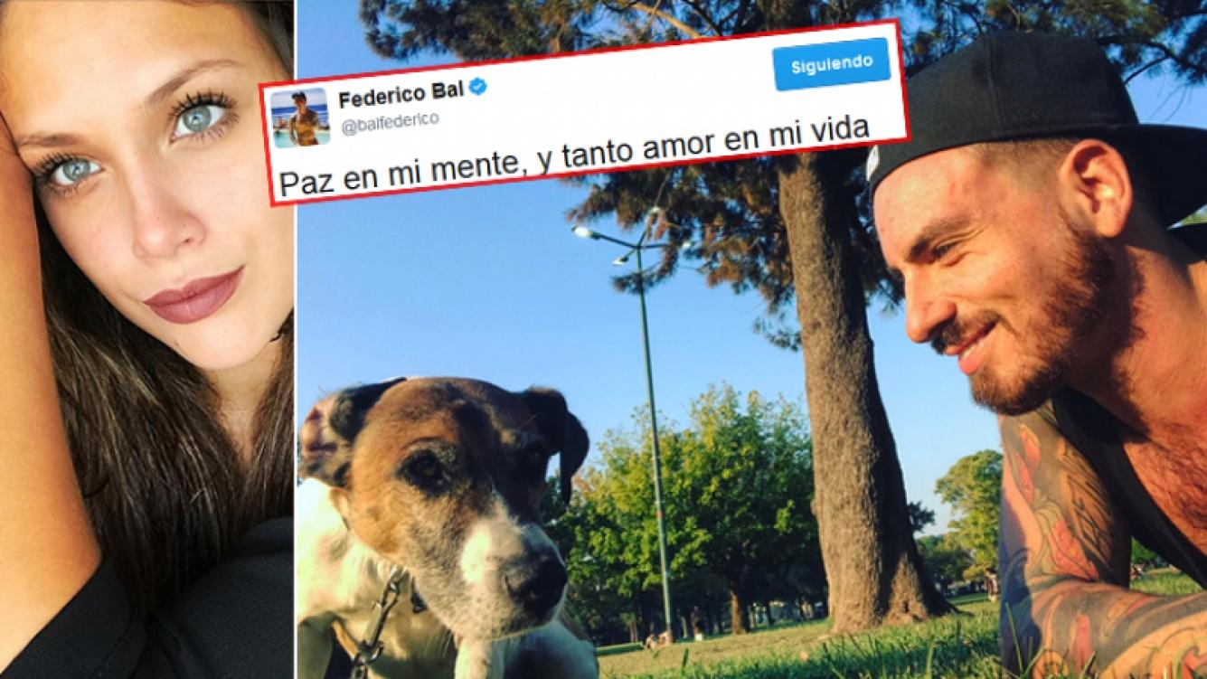 Fede Bal publicó una foto junto a su perro y este mensaje, tras el fallo de la Justicia. (Fotos: Twitter)