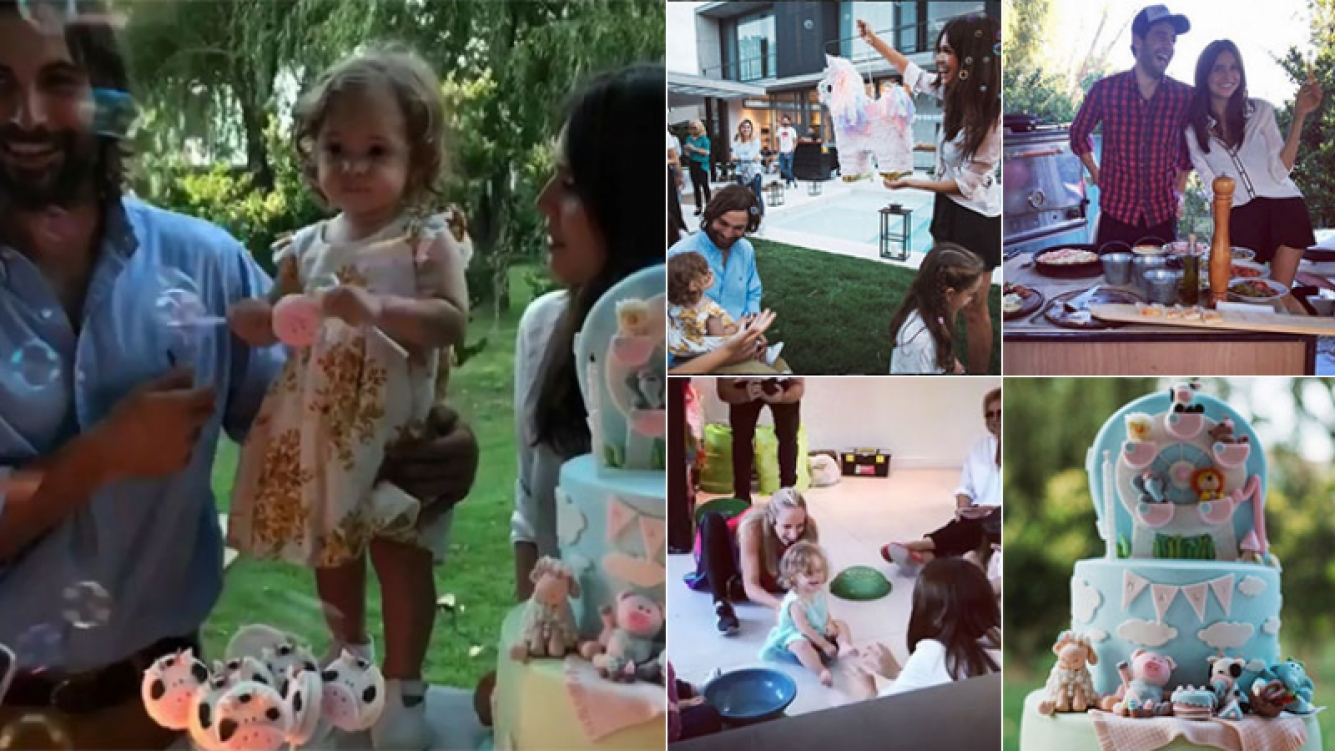 El festejo del primer cumple de Malaika, la hija de Zaira Nara. (Fotos: Instagram)