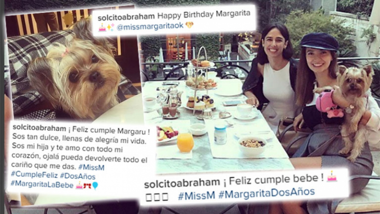 Solange Abraham le festejó el cumpleaños a su perra en un hotel de lujo.
