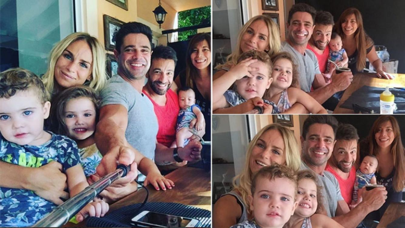 Las tiernas selfies familiares de Luciano Castro y Sabrina Rojas junto a Gustavo Conti y Ximena Capristo (Foto: Instagram)