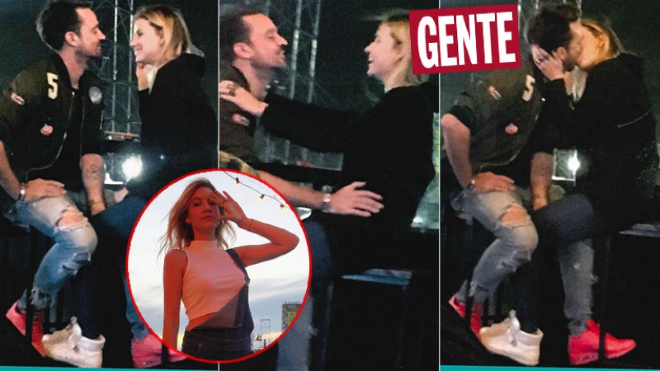 ¡In fraganti! Chano Charpentier, a los besos y mimos con una sexy modelo. (Fotos: revista Gente)