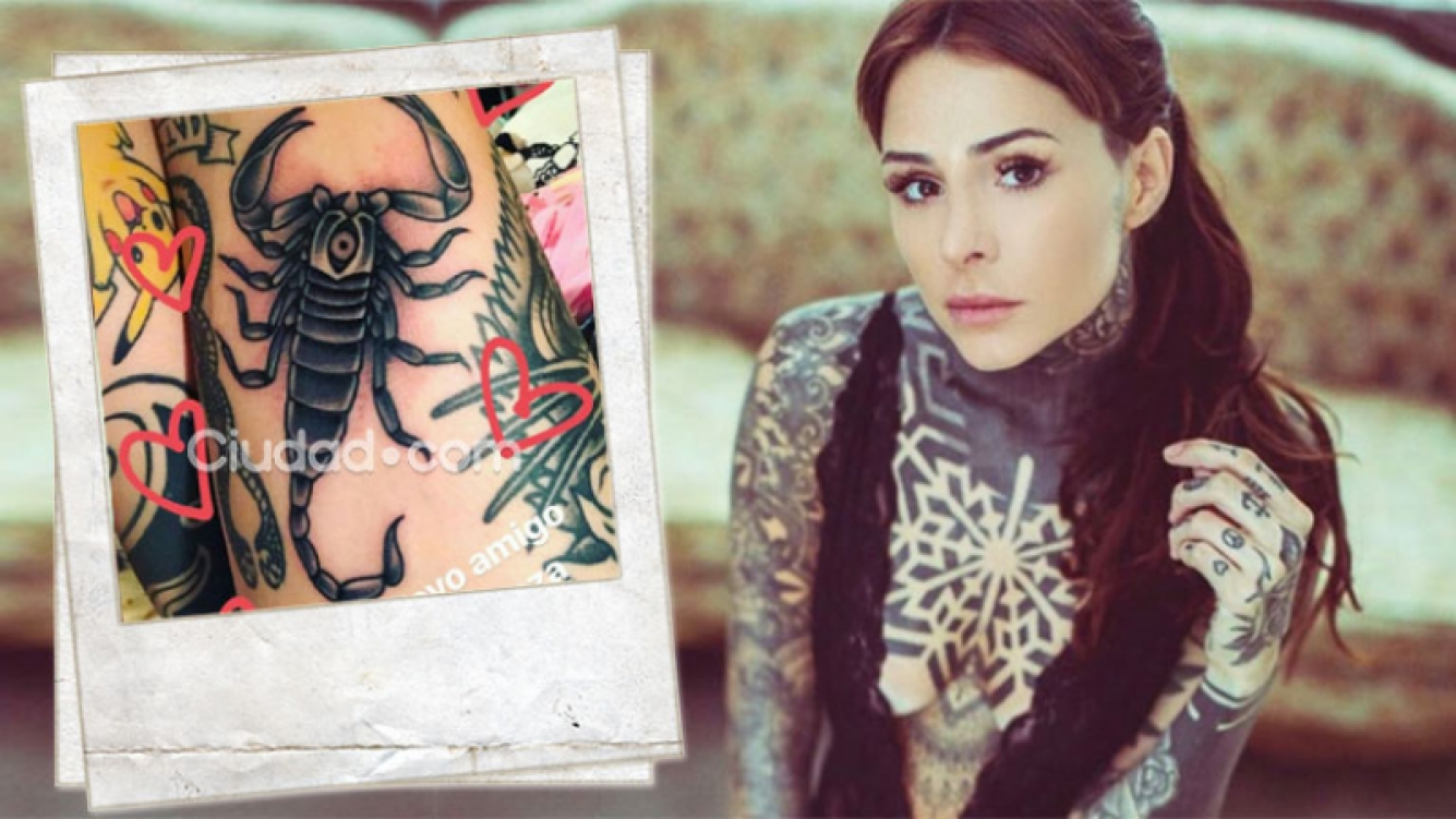 Mirá el nuevo tattoo de Cande Tinelli