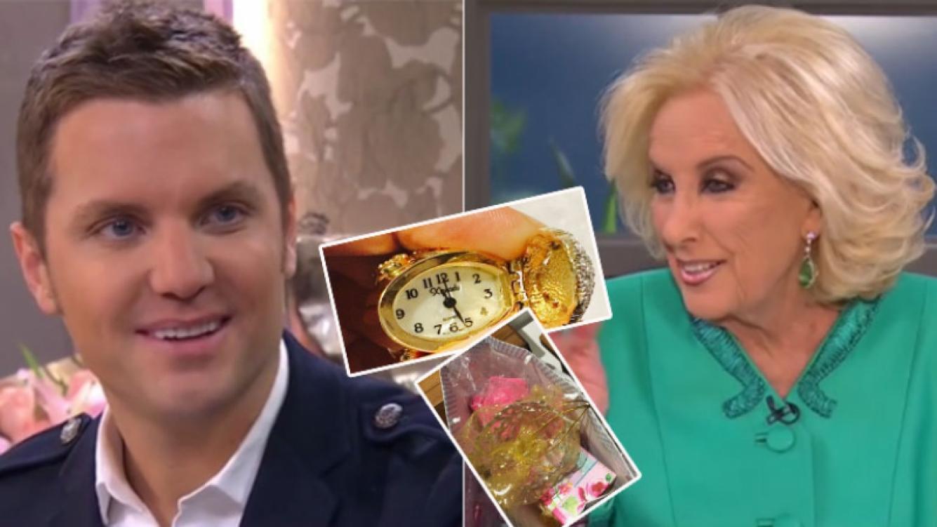 """Mirtha Legrand le regaló a la hija de Santi del Moro su """"anillo-reloj"""""""