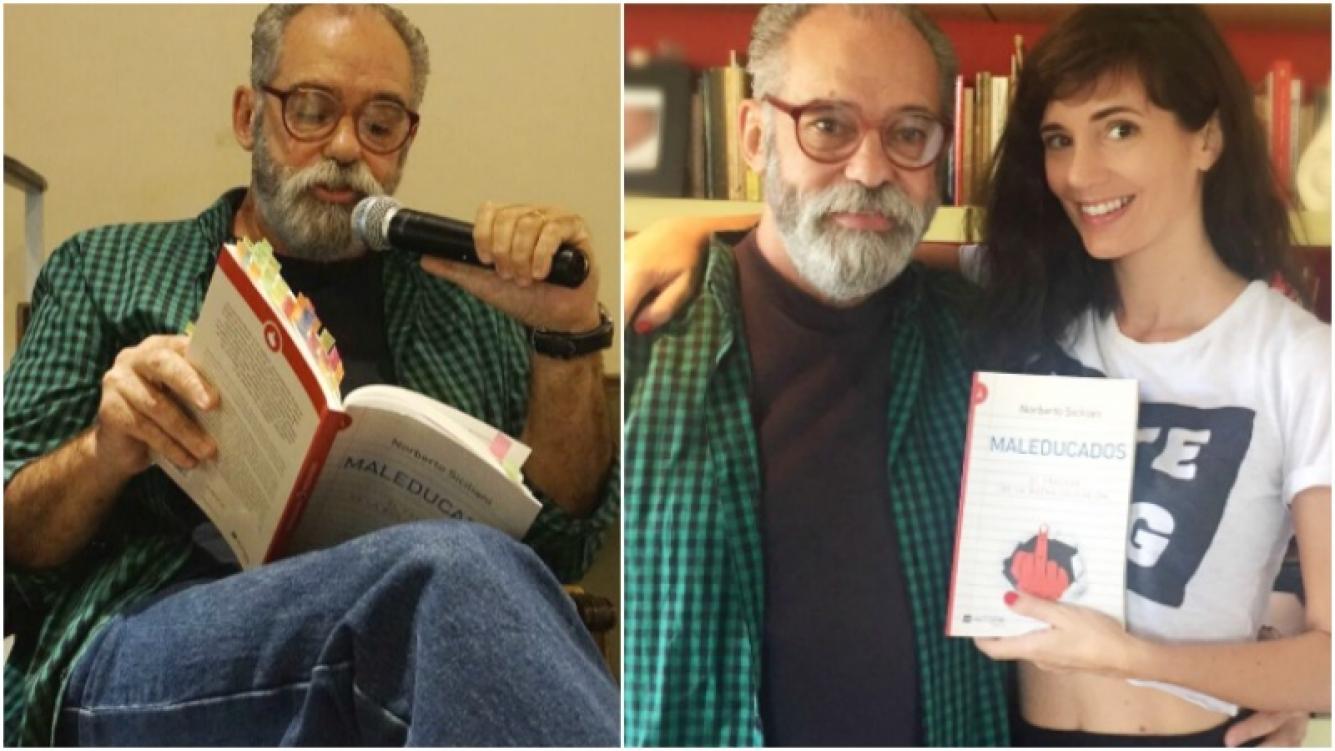 Griselda Siciliani acompañó a su papá en la presentación de su último libro Maleducados (Fotos: Prensa)