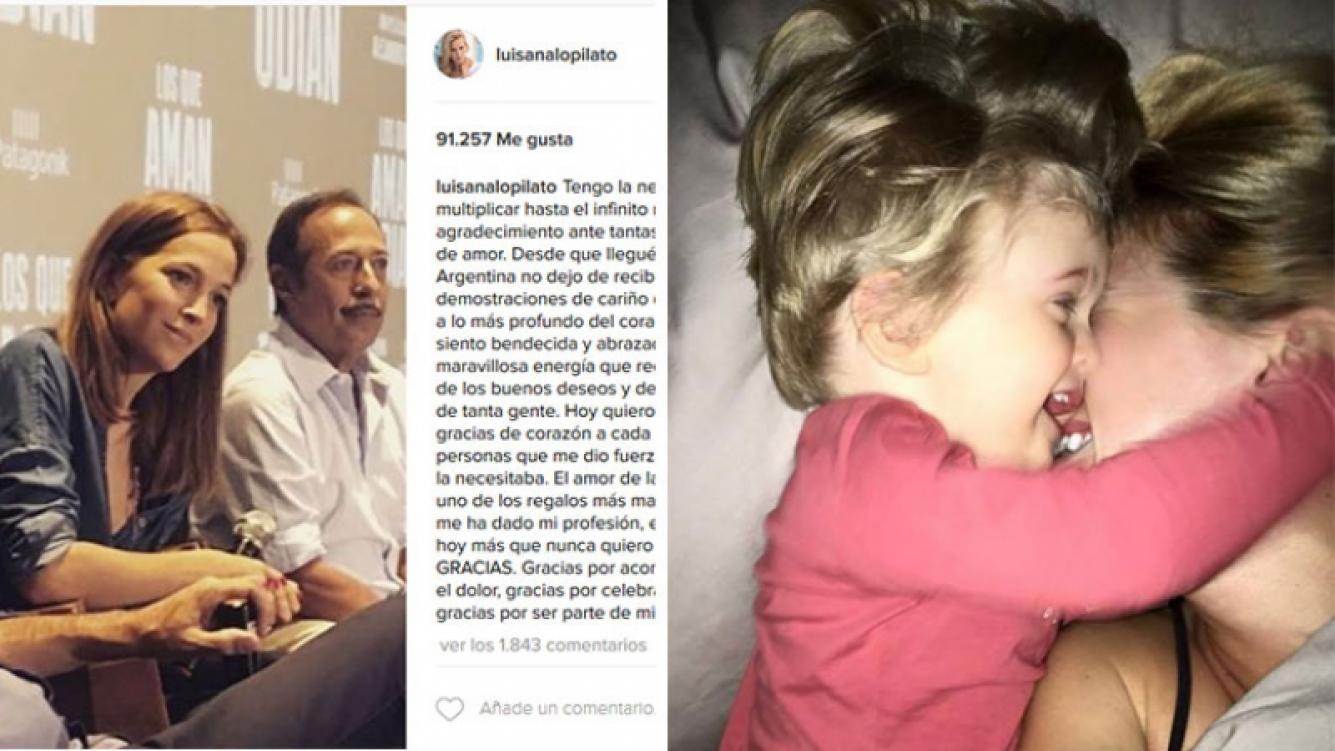 El mensaje con el que Luisana Lopilato volvió a las redes sociales. (Fotos: Instagram)