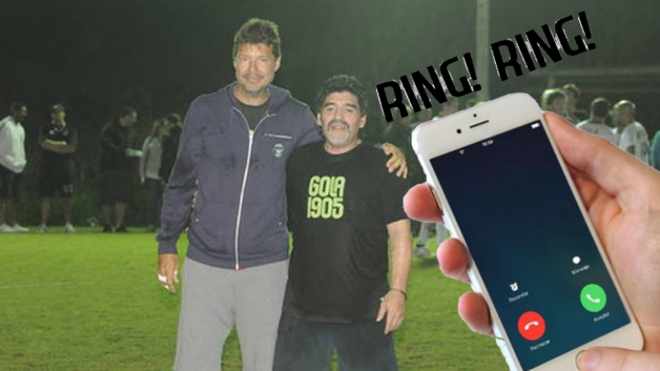 Marcelo Tinelli llamó a Diego Maradona a Dubai y charlaron 42 minutos.