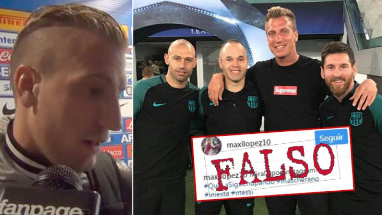 Maxi López denunció la cuenta falsa en Instagram y hasta en la Policía italiana. Y piensa abrirse un perfil oficial para bloquear al trucho.