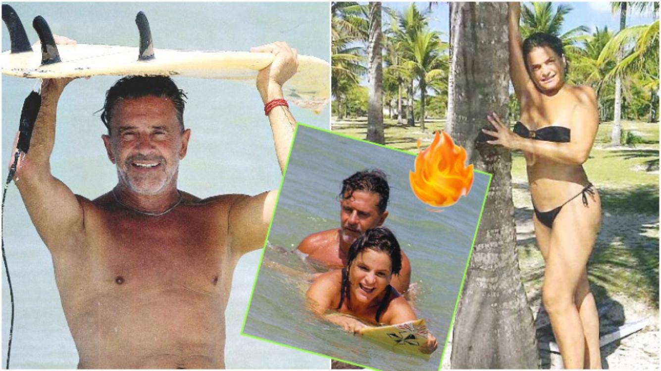 """La """"casi luna de miel"""" de Osvaldo Laport y su mujer en Brasil (Fotos: revista Gente)"""
