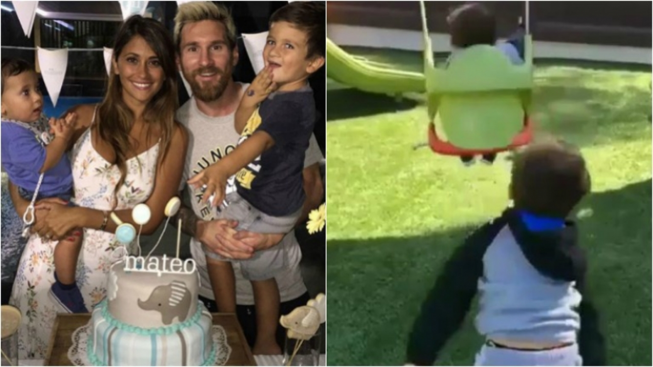 ¡Súper tiernos! Mirá el video del hijo mayor de Messi hamacando a su hermanito. Foto: Instagram