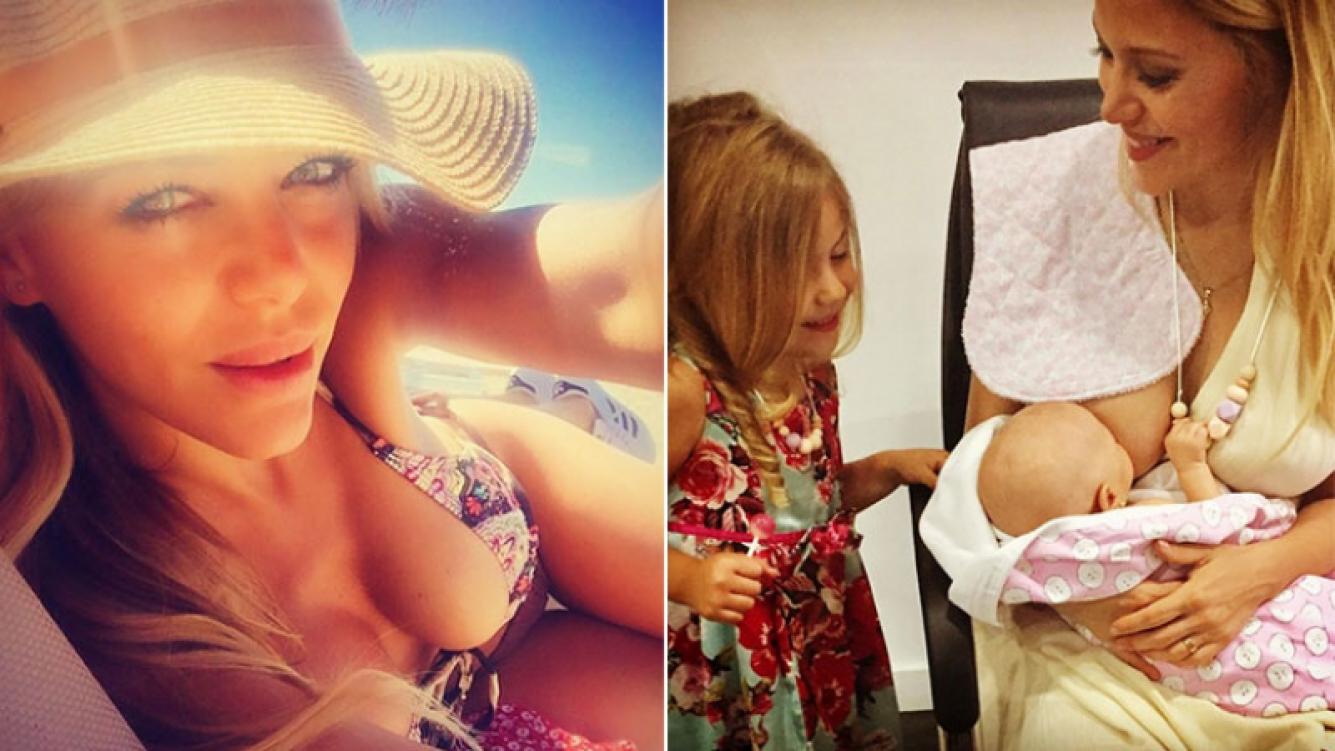 Evangelina Anderson y su tip para las mamás que le dan el pecho a sus bebés. (Fotos: Instagram)