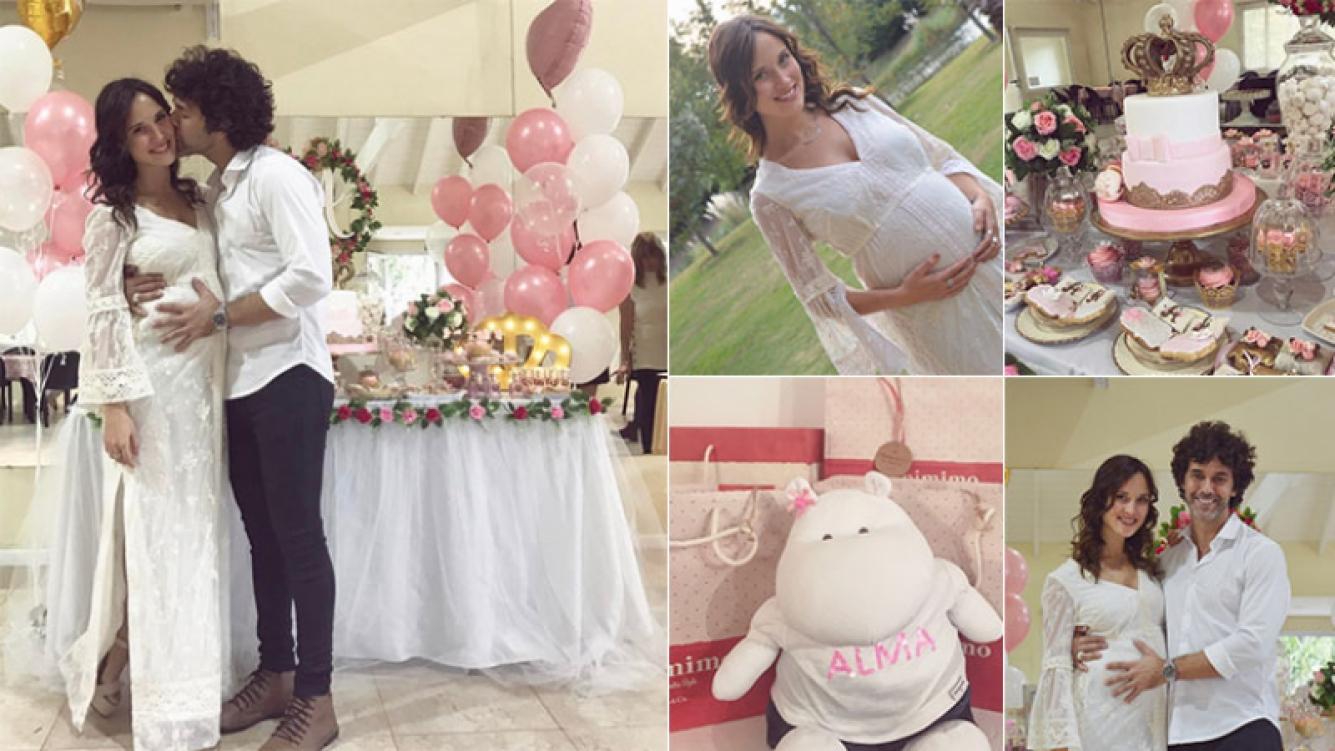 El baby shower de Mariano Martínez y Camila Cavallo. (Fotos: Instagram)