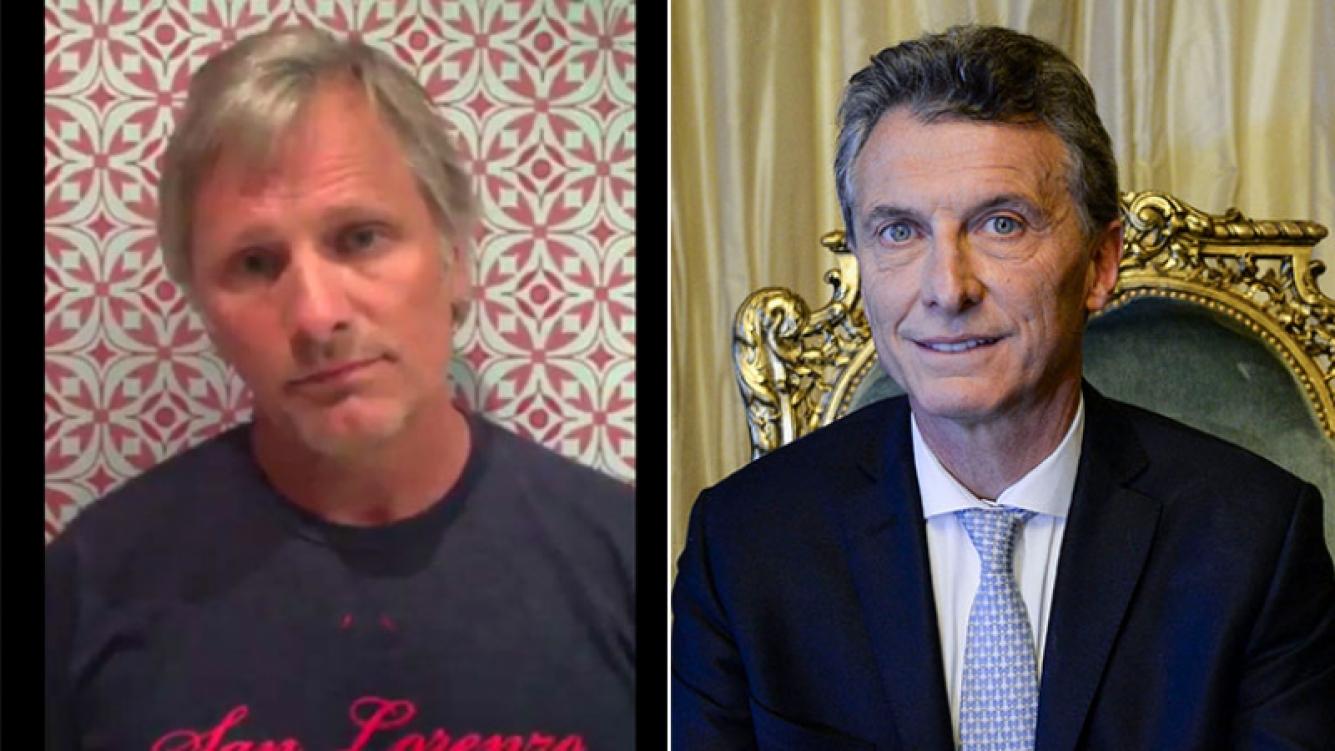 Fuerte frase de Viggo Mortensen contra Mauricio Macri
