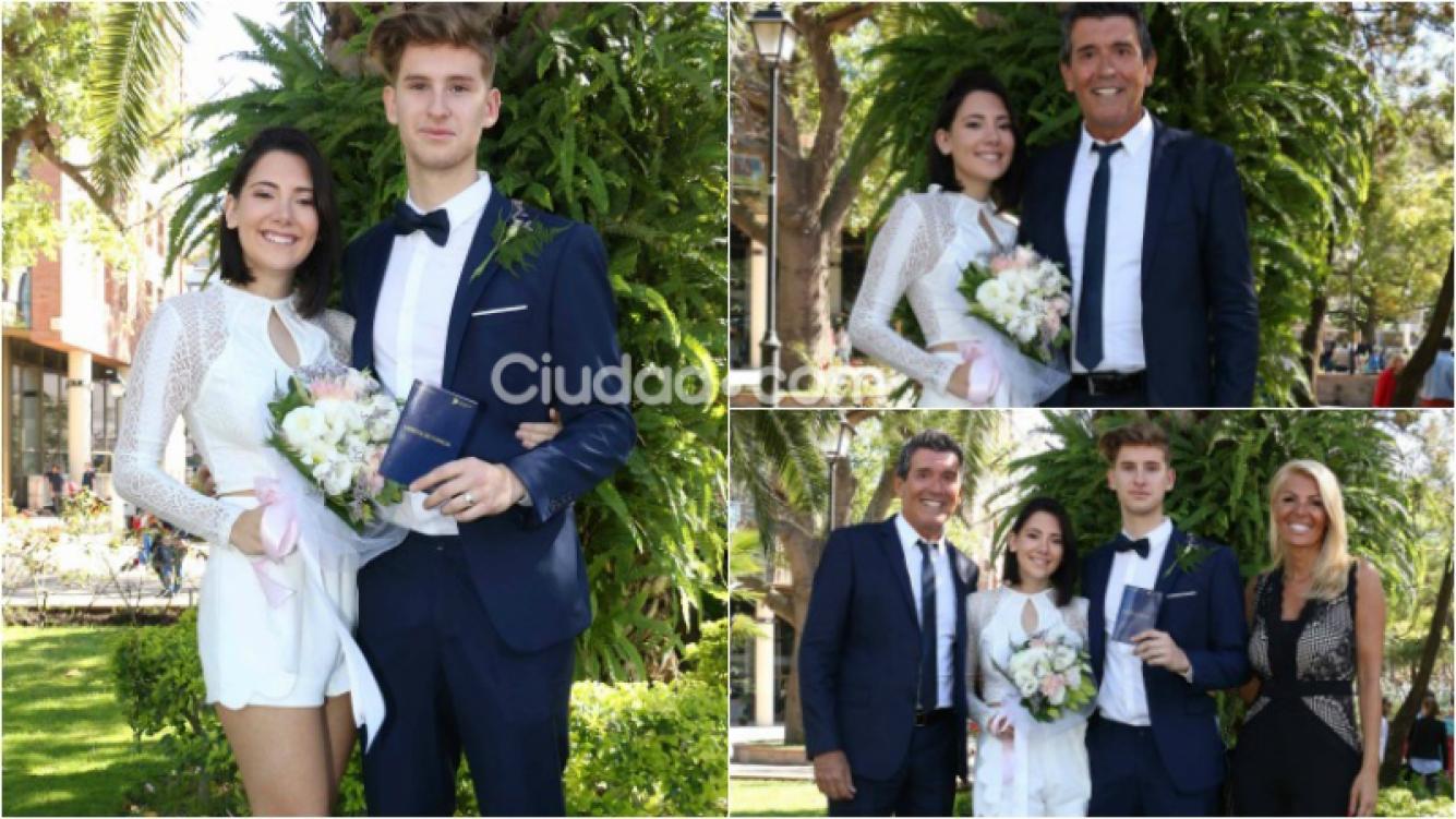 María Luján Cherutti se casó con su novio Tomás. Foto: Movilpress