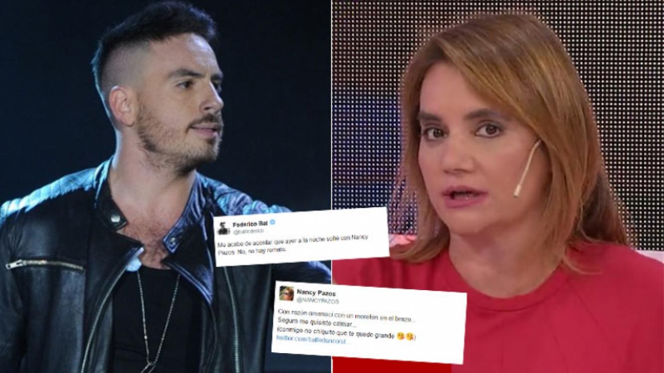 Fede Bal y Nancy Pazos se cruzaron en Twitter