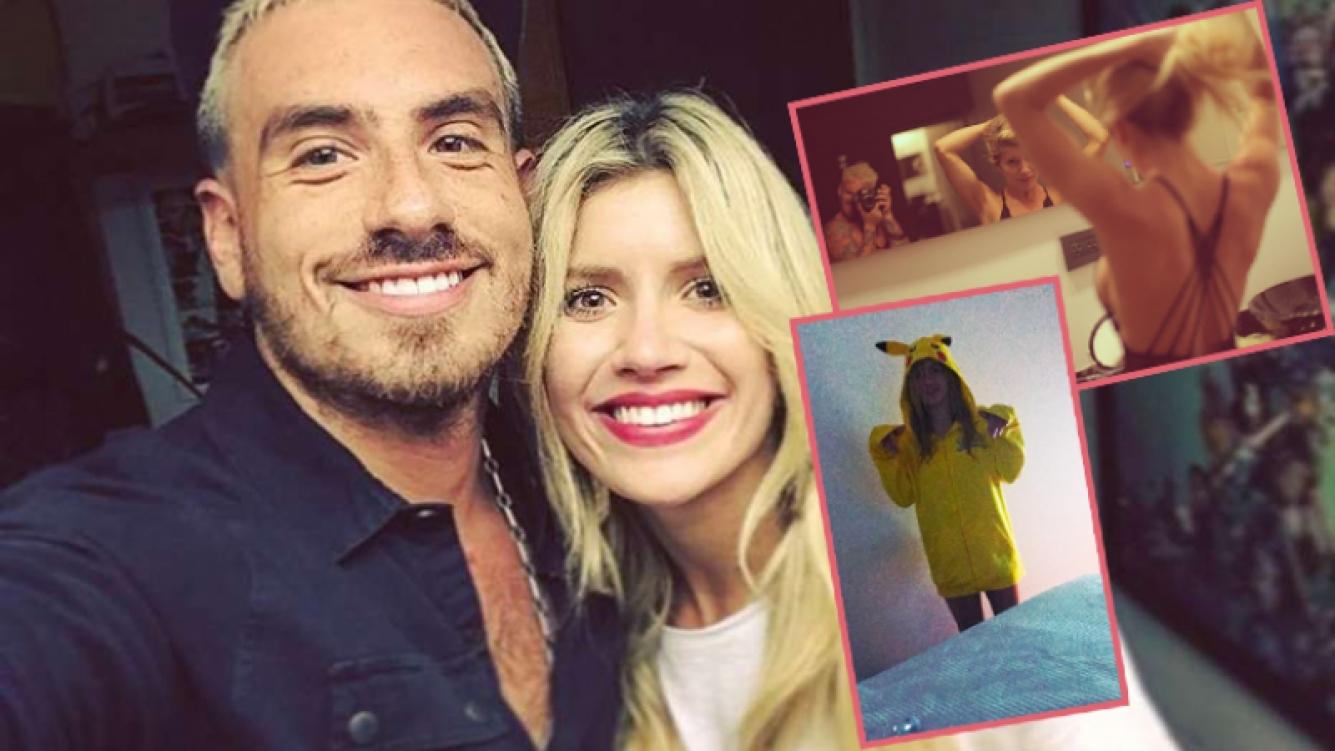 Fede Bal y Laurita Fernández mostraron su intimidad en Instagram (Fotos: Web).