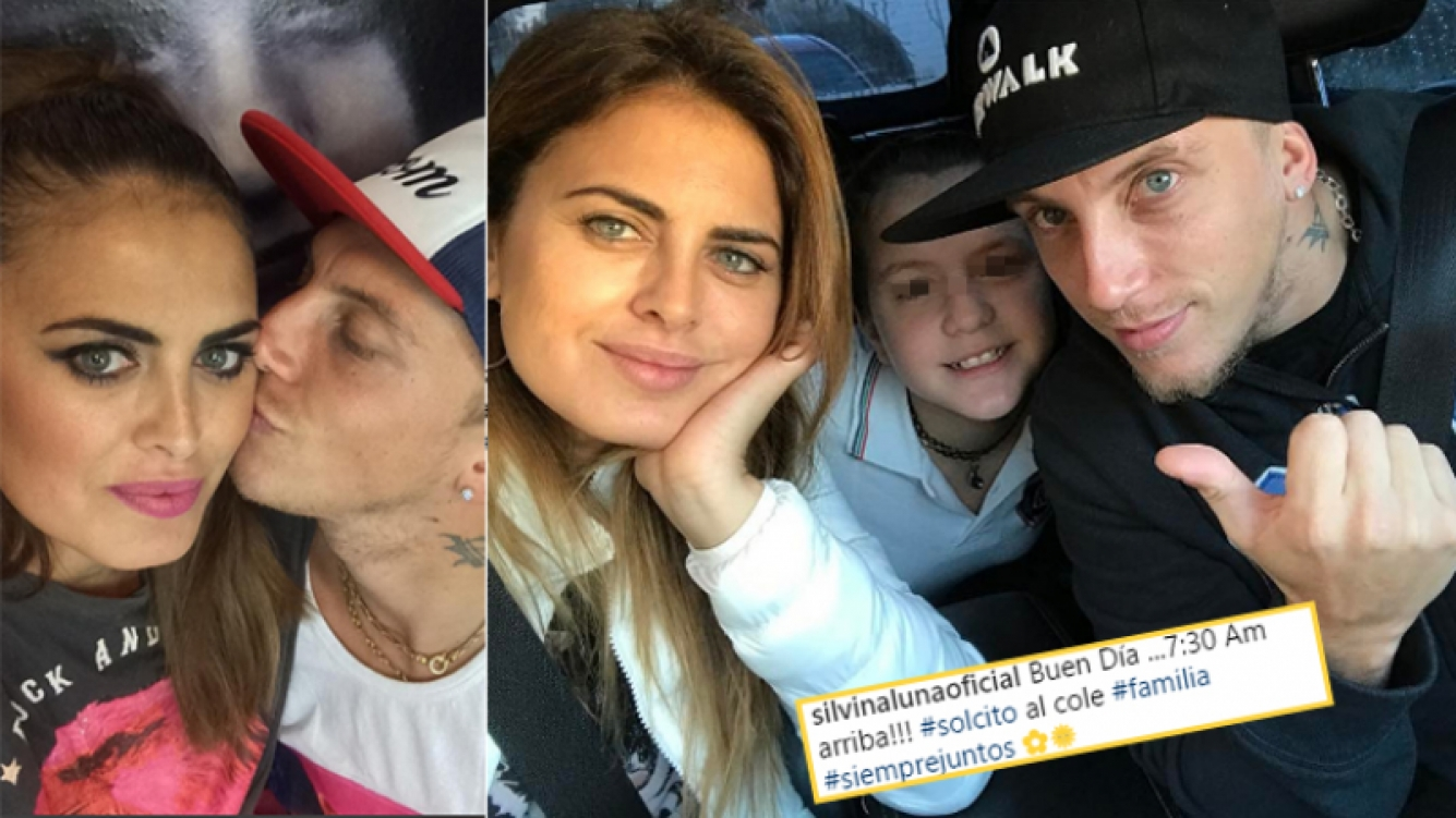 Silvina Luna posó junto al Polaco y Sol, hija mayor del cantante y Karina (Fotos: Instagram).