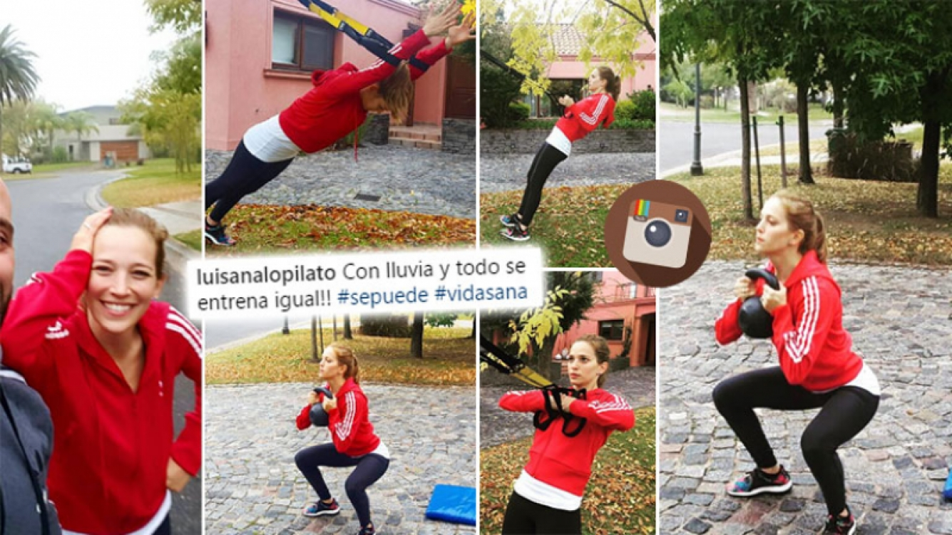 ¡Pura voluntad! La rutina fitness de Lopilato bajo el frío otoñal. (Foto: Instagram)