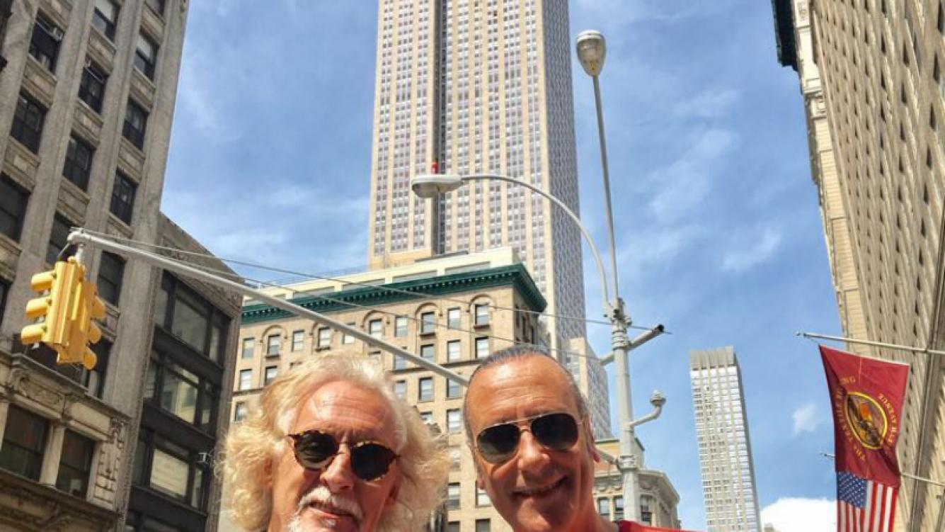 Nito Mestre y Manuel Wirtz recorrieron Broadway, en Nueva York, preparando la gran sorpresa para el nuevo especáctulo de Martín Bossi.