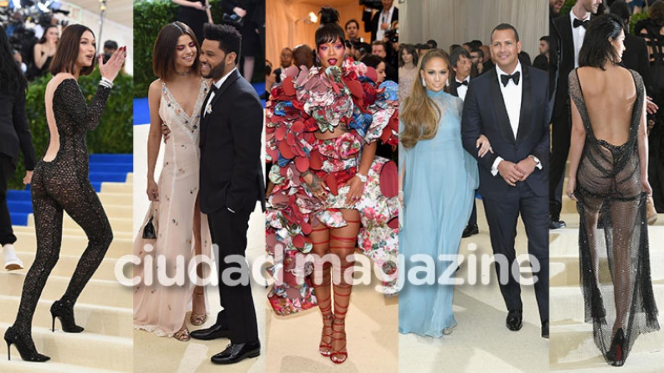 ¡Mucho glam y transparencias! Mega celebrities, parejitas y súper looks en la gala del Met de Nueva York. (Foto: AFP)