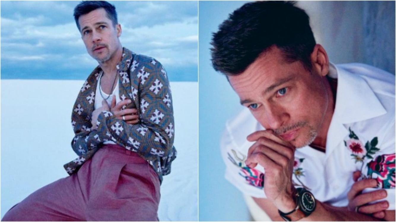 """Brad Pitt: """"Cuando formé mi familia detuve todo, excepto el alcohol. Incluso este último año estaba bebiendo demasiado"""" Foto: GQ"""