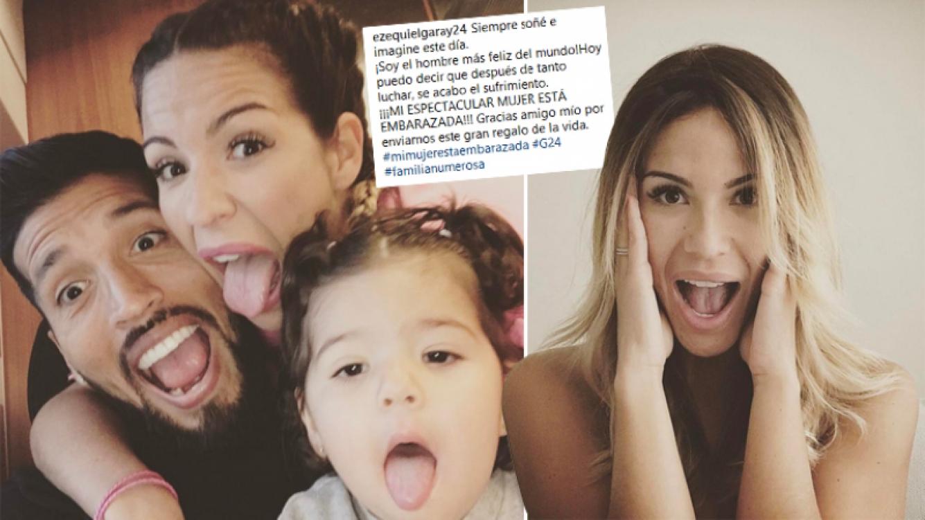 Ezequiel Garay y Tamara Gorro serán papás por segunda vez. (Fotos: Instagram)