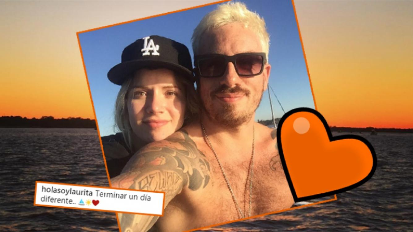 Fede Bal y Laurita Fernández, enamorados en el río (Fotos: Instagram).