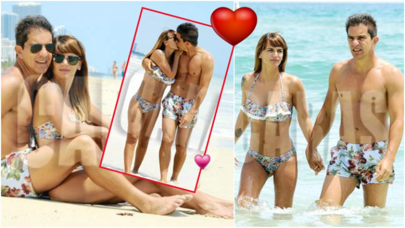 Amalia Granata y Leo Squarzon festejaron un año de amor en Miami (Fotos: revista Caras)