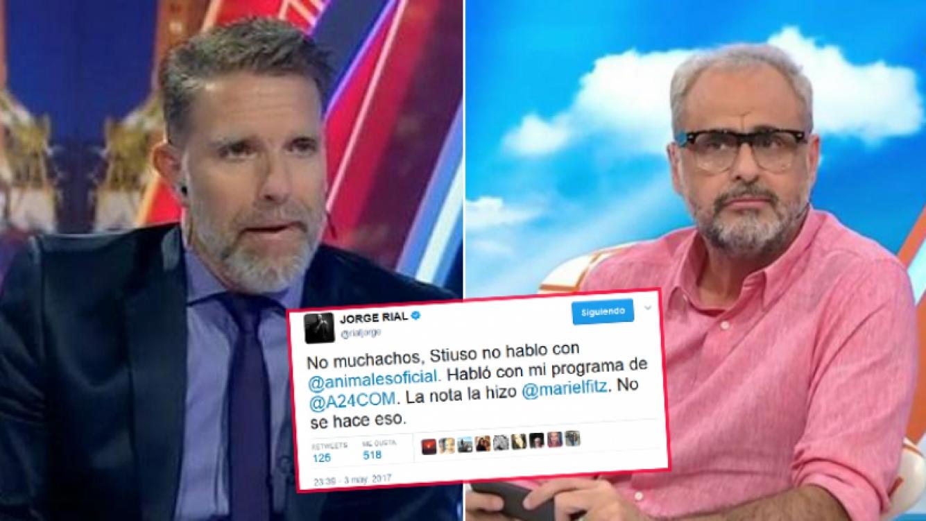 Rial puso el grito en el cielo con un tweet y Fantino le respondió desde su programa de radio.