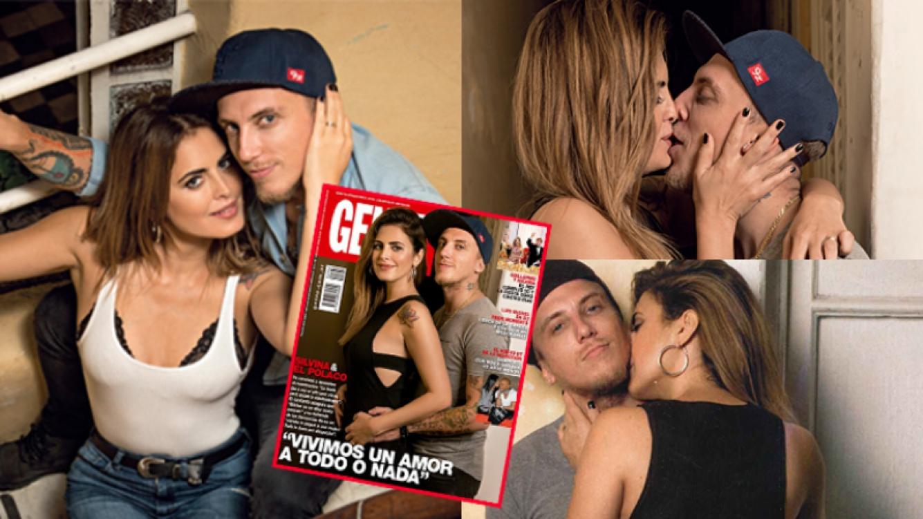 Silvina Luna y el Polaco posaron por primera vez juntos  (Fotos: Revista Gente).