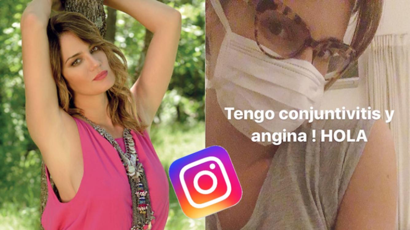 Paula Chaves, con conjuntivitis y angina (Fotos: Instagram).