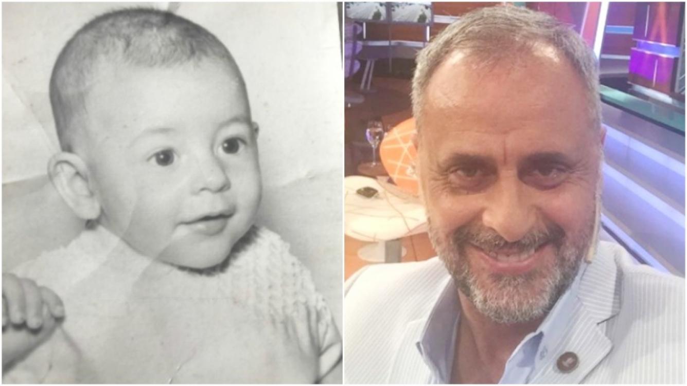 La foto más tierna de Jorge Rial cuando era un bebito (Fotos: Instagram)