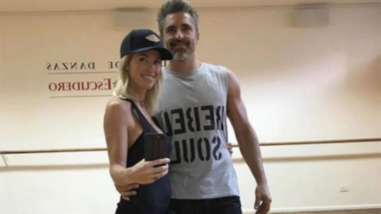 Rocío Guirao Díaz, en pleno ensayo con Paladini para el Bailando