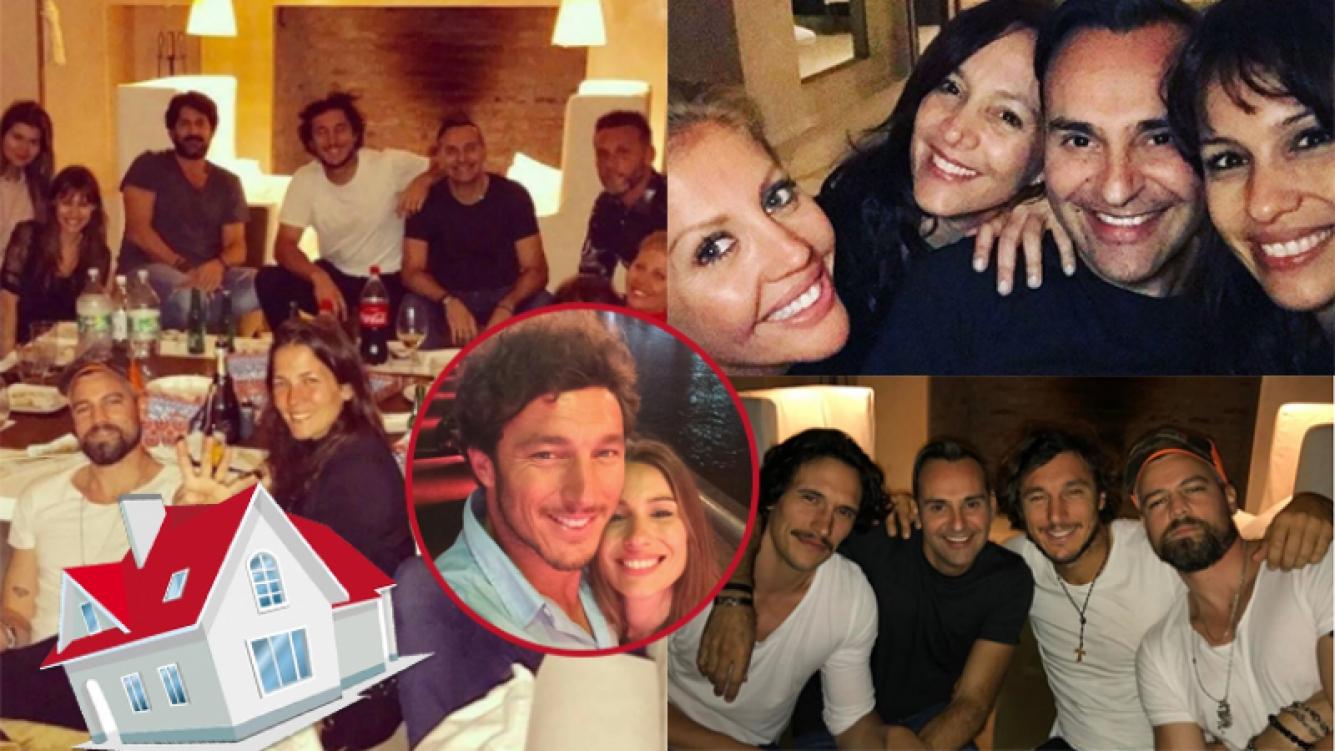 Pampita y Pico Mónaco festejaron junto a sus amigos (Fotos: Instagram).