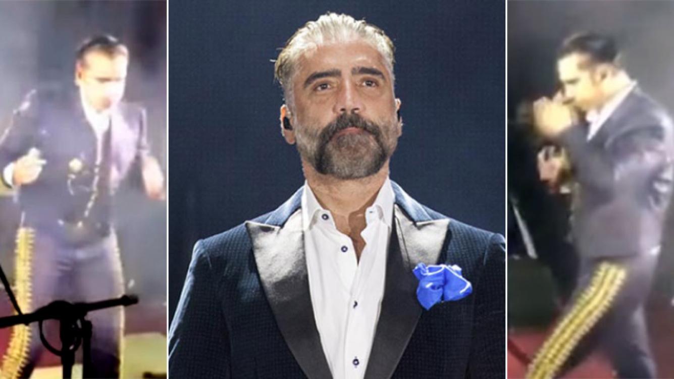 El cantante Alejandro Fernández casi vomita en pleno show: el video y su aclaración en Twitter